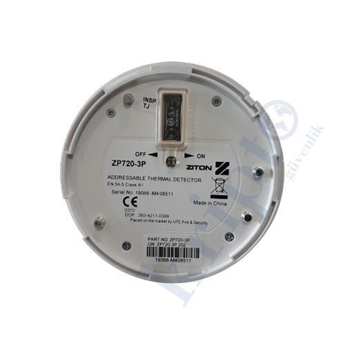 Ziton ZP720 Isı Dedektörü Arka